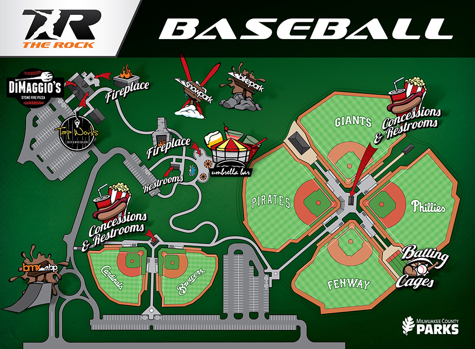 Maps Fields | Mke Rock League Baseball